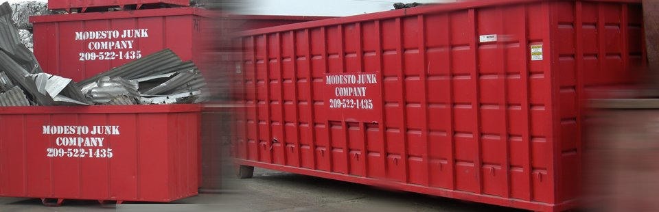 Modesto Junk Company Trucks and Bins & Containers for Scrap Metal