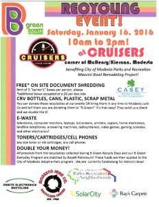 B Green Recycle Day Jan 16, 2016